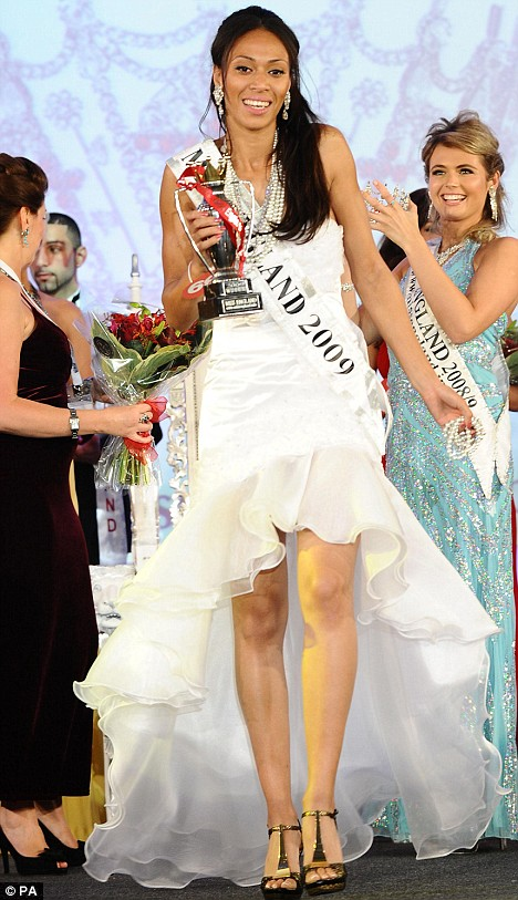 Crowning glory: Rachel Christie, who was named as the winner of Miss England 2009 at the Metropole Hilton Hotel in London last night