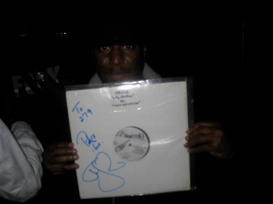 DJ 279 With The First Ever Rocafella Record Hand Signed By Jay Z Himself...